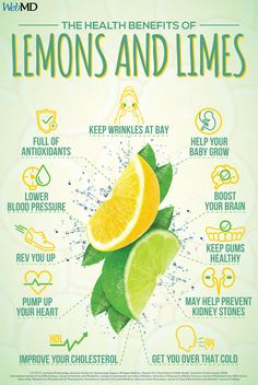 Slideshow: How Lemons and Limes Can Improve Your Health Do you know the many health benefits of lemons and limes? They are chock-full of nutrients that can keep you healthy. Health Facts, Health And Nutrition, Health And Wellness, Health Fitness, Nutrition Education, Health Advice, Nutrition Tips, Vitamins, Vegetarian Food