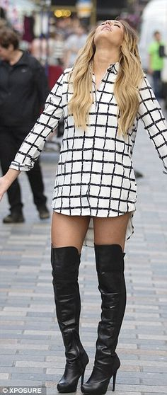 aaabdd3fb7 Charlotte Crosby shows off her recent weight loss in thigh-high boots
