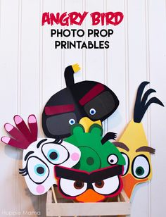 Angry Birds FREE Photo Prop Printables #AngryForSavings AD