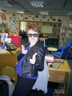 Heyyyy.Happy Days in the library. Pupils really shouldn't leave their jackets behind!