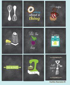 Funny Kitchen Art Set