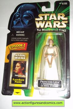Kenner/Hasbro toys STAR WARS: power of the force / potf II 2 potf2 action figures for sale to buy 1998 flashback PRINCESS LEIA in ceremonial dress NEW - still factory sealed in the original package Co