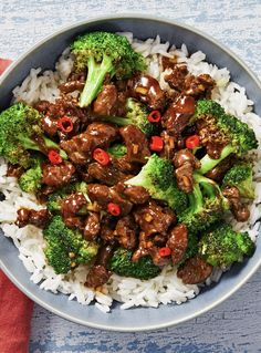 Teriyaki Beef and Broccoli - Amazing Foods Menu Recipes Chef Recipes, Asian Recipes, Dinner Recipes, Cooking Recipes, Drink Recipes, Broccoli Beef, Broccoli Recipes, Healthy Eating Tips, Healthy Recipes