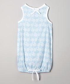 Another great find on #zulily! Light Blue Bike Bubble Dress - Infant #zulilyfinds