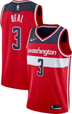c5f9a04786dd Nike Men s Washington Wizards Bradley Beal  3 Red Dri-FIT Swingman Jersey. John  Wall ...
