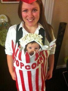baby popcorn costume | POPCORN BABY! Om nom nom nom nom!