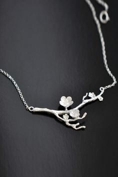 Art&garden Silver Wintersweet Necklace   Necklace at DEZZAL