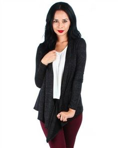 LYSS LOO DRAPED CARDIGAN SWEATER WOMEN S FASHION IN DIFFERENT COLORS   LYSSLOO  Cardigan  casual 1fdbc2b50