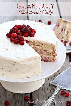 Cranberry Christmas Cake on MyRecipeMagic.com