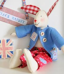 Helen Phillips Brit Bunny with Gingham Ears!