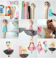 Fashion wooden spoon dolls by Craftberry Bush | Skip To My Lou