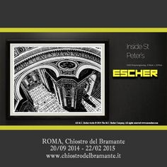 #exhibition #escherROMA Chiostro del Bramante, Rome 20/09/2014 - 22/02/2015 | www.chiostrodelbramante.it