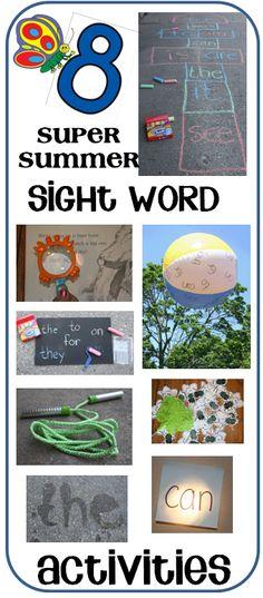8 super summer sight word activities!