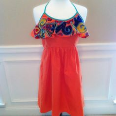 Boho Dress I can't even describe how gorgeous this dress is in person. It's vibrant and happy and screams take me on vacation!! Lined.  29' long 15' armpit to armpit. Price firm!!! Judith March Dresses