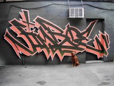 ENERGY FLOW IN THE WALL - He started writing his graffiti name Bacon on walls in Toronto in the early 90s. Twenty years has past since then and his urban art has really evolved. His outlines are perfectly fluid, his color combinations and shading are beautiful, and there is dynamic movement in all of his works.