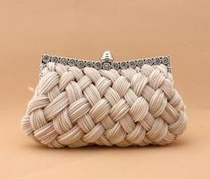 92048 Elegant Satin Banquet Bag Metalic Bridal Handbags Bride Wedding Accessories More Colors you choose