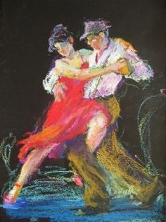 oil pastel paintings | oil pastel figurative painting by Connie Chadwell, original painting ...