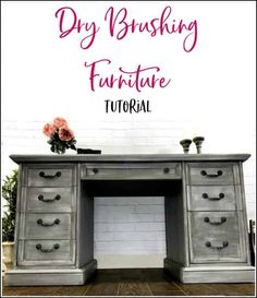Dry brushing furniture tutorial with video. Dry brushing is the easiest furniture painting technique. Get a gorgeous dry brushed painted furniture finish. Diy Furniture Projects, Cool Diy Projects, Repurposed Furniture, Furniture Making, Furniture Makeover, Furniture Refinishing, Refinished Furniture, Chair Makeover, Painted Furniture For Sale
