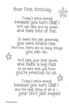 Dinglefoot's Scrapbooking - poem for baby