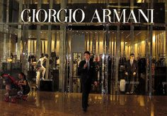 new IFC Mall in shanghai , giorgio armani stylish store front , no pics allowed , security is coming at me . Shopping Center, Go Shopping, Storefront Doors, Armani Store, Shop Till You Drop, Store Fronts, Giorgio Armani, Shanghai, World Of Fashion