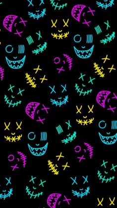 Neon Masks iPhone Wallpaper - iPhone Wallpapers