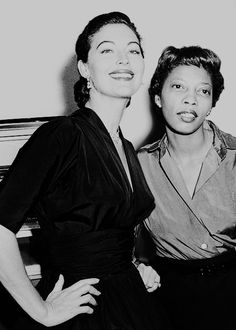"Ava Gardner with her assistant and confidante Mearene ""Rene"" Jordan."