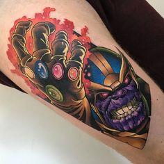 Death and Destruction: 15 Powerful Thanos Tattoos | Tattoodo