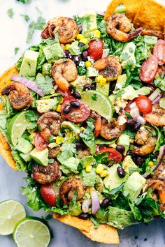 Shrimp Avocado Taco Salad | The Recipe Critic
