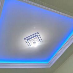 Ceiling Design Living Room, Living Room Interior, Living Room Designs, Gypsum, Minimalist Home, Sweet Home, House Design, Building, Modern