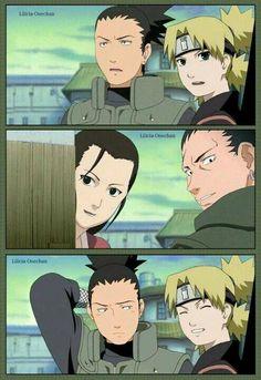Shikamaru are you embarrassed? Ha (Shikaku/Yoshino and Shikamaru/Temari) Anime Naruto, Naruto Comic, Naruto Fan Art, Naruto Cute, Manga Anime, Itachi, Naruto Shippuden Sasuke, Naruto Sasuke Sakura, Gaara