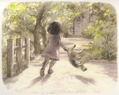 "Chiaki Okada, illustration from the picture book ""Chīsai watashi' "" (""I Am Small"")"