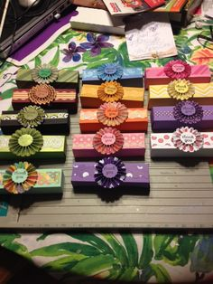 I made these candy bar boxes from Envelope Punch board