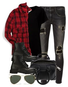 """""""Sin título #11965"""" by vany-alvarado ❤ liked on Polyvore featuring R13, maurices, Dr. Martens, Givenchy and Ray-Ban"""