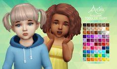 Aveira Sims 4: Basegame Toddler Hairs - Recolor • Sims 4 Downloads