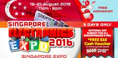 Singapore Electronics Expo 2016 Up to 95% Off Promotion 19 to 21 Aug 2016