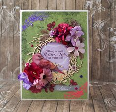"""Задание """"Скрапворд # 19"""". Светлана Трубаева Floral Wreath, Scrap, Gift Wrapping, Wreaths, Club, Frame, Top, Inspiration, Gifts"""
