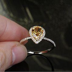 1.7 ct Citrine Engagement Ring