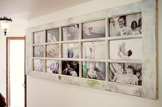 reuse old door as a photo frame!