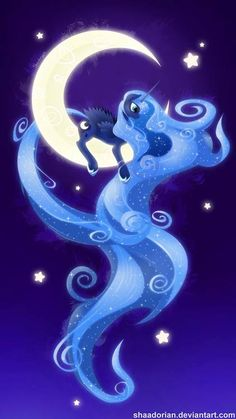 Princess Luna by artist? ||| My Little Pony: Friendship is Magic, alicorn