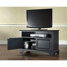 """Crosley Furniture Lafayette 42"""" TV Stand in Black Finish (Cambridge 42"""" TV Stand)"""