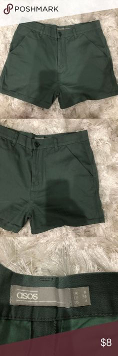 ASOS Cotton Shorts Worn a couple of times. EUC. US Size 4. Purchased from ASOS last June. ASOS Shorts