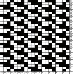Tricksy Knitter Charts: houndstooth (66096)