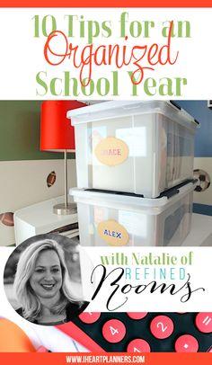 Ten tips for an organized school year