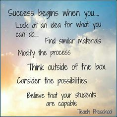 As a teacher...