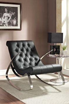 Canoo Lounge Chair Rocker - Black on HauteLook
