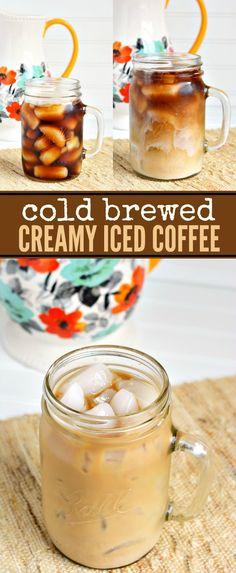Cold Brewed Creamy Iced Coffee Recipe