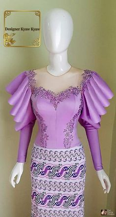 Kebaya Dress, Dress Pesta, Lehnga Dress, African Maxi Dresses, Latest African Fashion Dresses, Cambodian Wedding Dress, Traditional Dresses Designs, Myanmar Dress Design, Fancy Tops