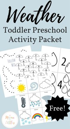 Start Out Your Very Own Sewing Company Toddler Preschool Freebie That's All About The Weather Fantastic Activities Free Preschool, Preschool Learning, Kindergarten Activities, Toddler Preschool, Classroom Activities, Preschool Curriculum, Toddler Fun, Learning Tools, Teaching Kids