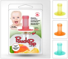 PouchPop Topper (For Baby Pouch Self-Feeders).  Like what you see? ** Follow me on www.MommasBacon.com **