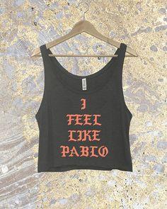 Saint Pablo Tank Top - Kanye West - Pablo - Life of Pablo - Yeezy - Yeezus - Crop Top - Pablo Merch - Kanye Shirt - Custom Crop Top - Kanye
